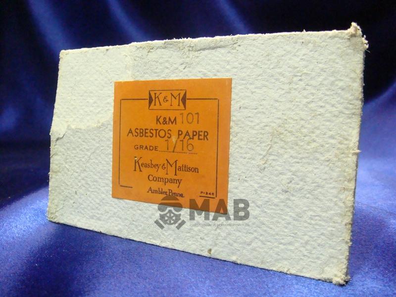 Asbestli Kağıt Ürünleri,  Asbestli Kağıt Malzemeler
